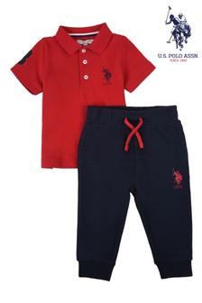 U.S. Polo Assn. Player Polo Shirt and Joggers Set