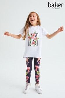 Baker by Ted Baker Floral T-Shirt And Legging Set
