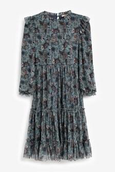 Mesh Tiered Maxi Dress (3-16yrs)