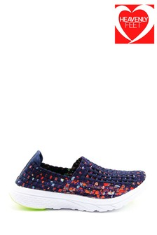 Heavenly Feet Blue Ladies Ath-Leisure Shoes