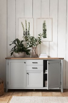 Newhaven Painted Pine Large Sideboard with Drawers