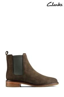 Clarks Dark Olive Sde Clarkdale Arlo Boots