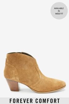 Forever Comfort® Western Style Ankle Boots