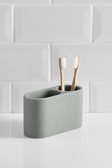 Stone Resin Toothbrush Tidy