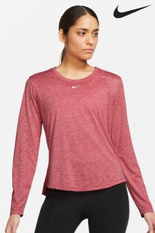 Nike One Pink Dri Fit Long Sleeve Top