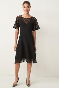Lace Detail Occasion Dress