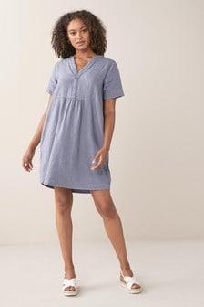 Linen Blend Kaftan Dress