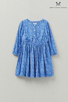Crew Clothing Company Tie Waist Spot Ditsy Dress