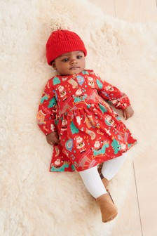 Christmas Print Jersey Dress (0mths-2yrs)