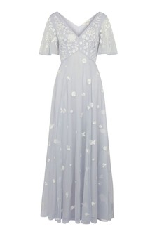 Monsoon Blue Kaitlyn Embroidered Maxi Dress