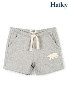 Hatley Grey Melange Heritage Kids Shorts