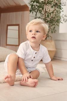 The White Company Little Dinosaur T-Shirt And Shorts Set