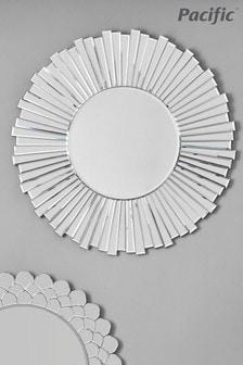 Pacific Starburst Round Wall Mirror