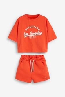 Miami Print T-Shirt And Shorts Set (3-16yrs)