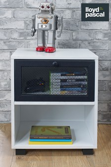 1 Drawer Bedside Table With Black Mesh Drawer By Lloyd Pascal