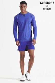 Superdry Blue SportRun Premium Shorts
