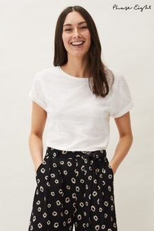 Phase Eight Cream Faye Textured Jersey Top