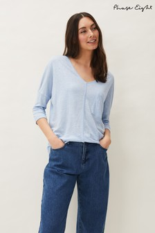 Phase Eight Blue Ali Linen Top