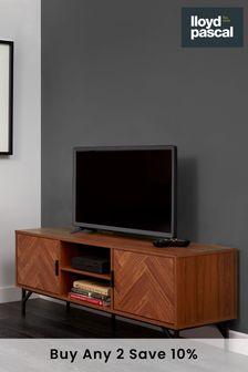Dark Chevron TV Unit By Lloyd Pascal