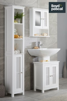 Raphia Double Door Wall Cabinet with Mirror By Lloyd Pascal