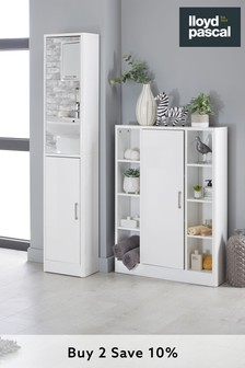 Radium Console Unit in White By Lloyd Pascal