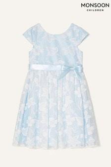 Monsoon Blue Floral Lace Dress