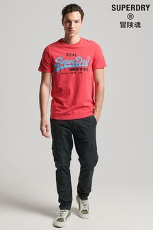 Superdry Red Vintage Logo American Classic T-Shirt