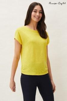 Phase Eight Yellow Matilda Linen T-Shirt