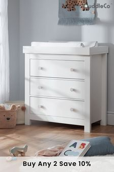 Aylesbury 3 Drawer Dresser With Changer In White By Cuddleco