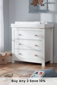 Aylesbury 3 Drawer Dresser With Changer In White & Ash By Cuddleco
