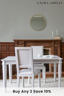 Henshaw Pale Steel Extending Dining Table By Laura Ashley