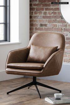 Bowery Swivel Chair By Julian Bowen
