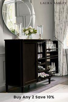 Henshaw Black Drinks Cabinet by Laura Ashley