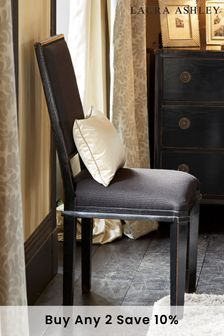 Henshaw Black Pair Of Dining Chairs by Laura Ashley