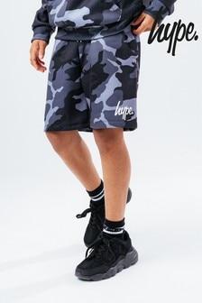 Hype. Boys Grey Camo Sweat Shorts