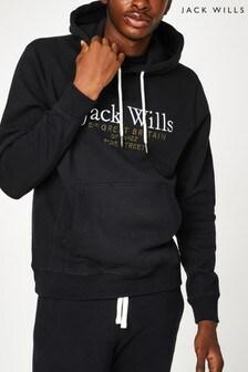 Jack Wills Black Batsford Hoodie