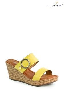 Lunar Yellow Abby Slip-On Wedges