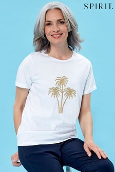 Spirit Palm Embroidered T-Shirt
