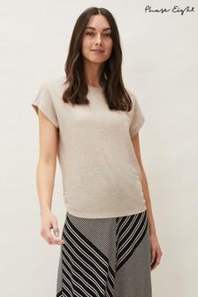 Phase Eight Neutral Matilda Linen T-Shirt