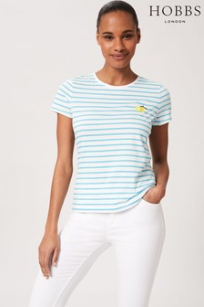 Hobbs Blue Pixie Embroidered T-Shirt