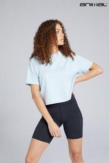 Animal Light Blue Layne Organic Women's Boxy Small Logo T-Shirt
