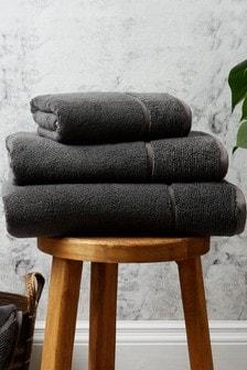 Panda London Grey Bamboo Towel