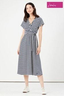Joules Riley Print Jersey Wrap Dress