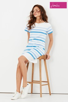Joules Cream Riviera Printed Dress