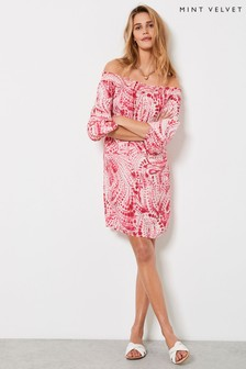 Mint Velvet Vanessa Bardot Mini Dress