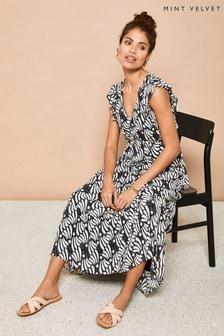 Mint Velvet Kyla Print Ruffled Maxi Dress