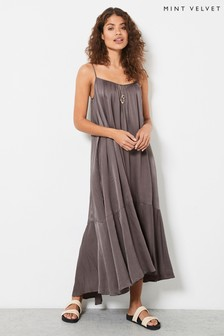 Mint Velvet Womens Satin Beach Maxi Dress