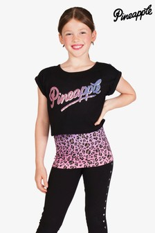 Pineapple Pink Ombre Leopard Double Layer Top Set
