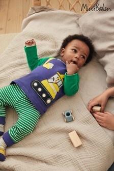 Boden Newborn Boys Green Fun Jersey Play Set