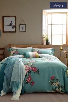 Joules Blue Cotswold Floral Duvet